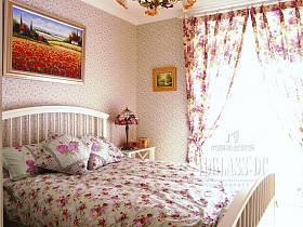 田园田园风格卧室木床设计方案