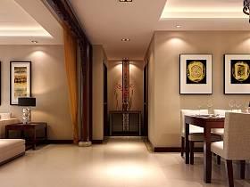 中式餐厅玄关玄关柜设计案例展示