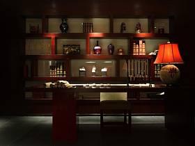 中式中式风格书房别墅装修案例