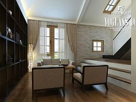 中式中式风格新中式休闲区装修图