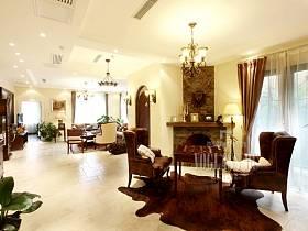 美式客厅休闲区装修图
