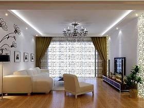 现代现代风格客厅背景墙沙发电视背景墙客厅沙发装修案例