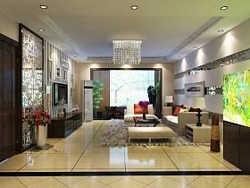 现代客厅吊顶电视背景墙案例展示