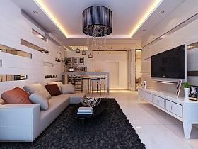 现代客厅沙发电视柜茶几图片
