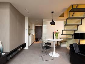餐厅阁楼吊顶楼梯案例展示
