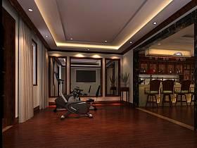 美式美式风格健身房吊顶设计案例展示
