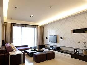 现代客厅电视背景墙图片