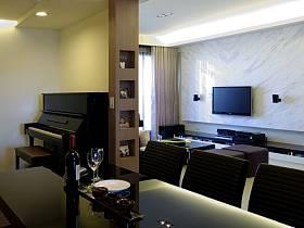 现代客厅电视背景墙设计方案