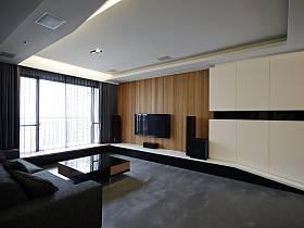 现代客厅电视背景墙装修案例