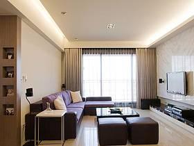 现代客厅电视背景墙设计案例展示