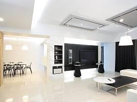 简约客厅吊顶电视背景墙设计案例
