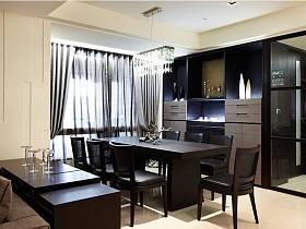 现代餐厅三室两厅两卫设计图