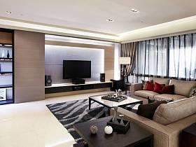 现代客厅三室两厅两卫电视背景墙图片