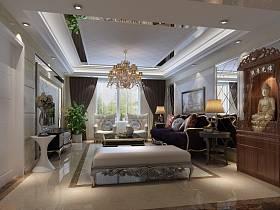 歐式客廳電視柜茶幾電視背景墻設計圖