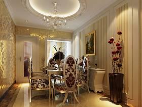 法式餐厅三室两厅两卫装修案例