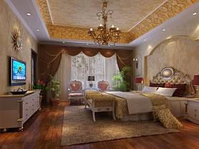 欧式卧室别墅电视柜设计案例