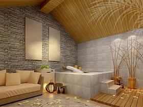 中式别墅浴室装修效果展示