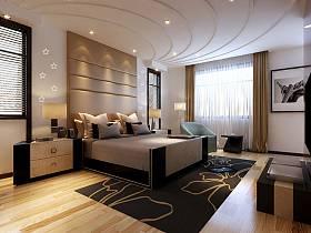 现代现代风格卧室窗帘案例展示