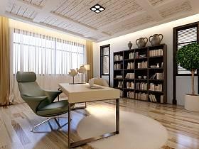 现代现代风格书房装修图