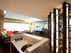 中式客厅酒柜设计案例
