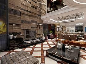 新古典古典客厅跃层电视背景墙装修效果展示