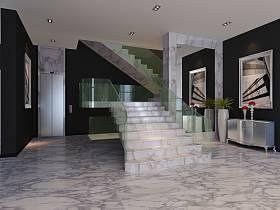 现代现代风格客厅楼梯装修效果展示