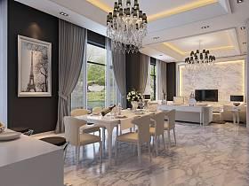 现代现代风格餐厅吊顶设计方案