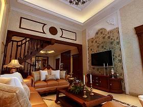 欧式欧式风格客厅跃层设计方案