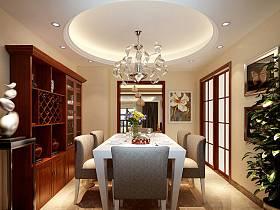 中式餐厅吊顶酒柜设计案例展示