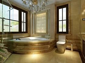 欧式别墅浴室淋浴房设计方案