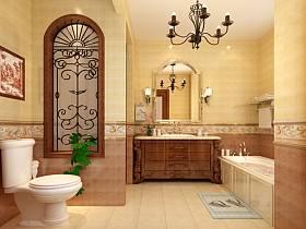 田园浴室淋浴房装修图