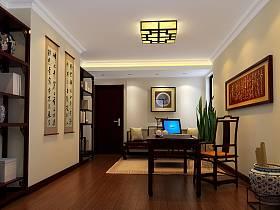 中式中式风格书房吊顶设计图