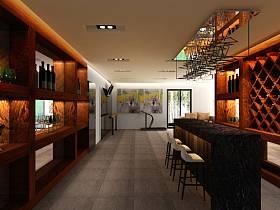 现代吧台别墅酒吧装修效果展示