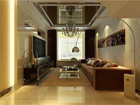 现代现代风格客厅跃层吊顶装修案例