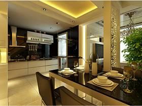 现代现代风格餐厅跃层装修效果展示