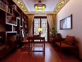 中式书房交换空间设计案例展示