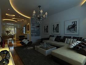 现代现代风格客厅吊顶设计图