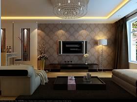 现代现代风格客厅背景墙电视背景墙案例展示