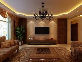 欧式客厅吊顶沙发设计方案