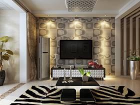 現代客廳電視柜茶幾電視背景墻裝修效果展示