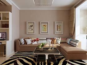 現代客廳沙發茶幾裝修效果展示
