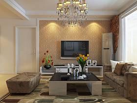 现代客厅吊顶电视柜电视背景墙效果图