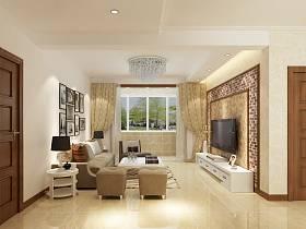 現代客廳電視柜電視背景墻設計案例