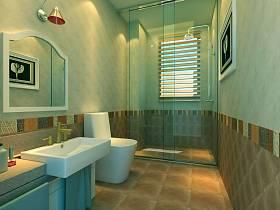 韩式卫生间浴室淋浴房效果图