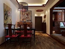 中式餐厅吊顶装修案例