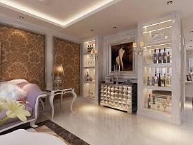 欧式客厅酒柜设计图
