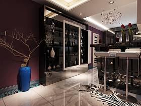 現代吧臺吊頂酒柜設計案例展示