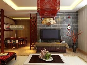 中式中式风格客厅背景墙电视背景墙装修图