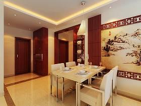 中式餐厅吊顶设计方案