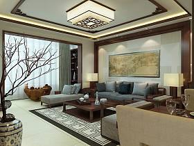 中式中式风格背景墙沙发图片